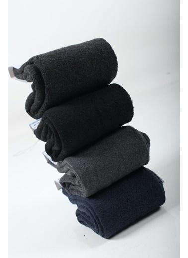 Oksit Oksit Termo 12 Çift Karışık Renk Erkek Çok Renkli Havlu Çorap Renkli